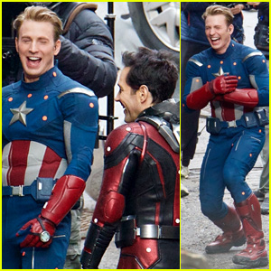 Chris Evans & 'Avengers' Co-Stars Share Big Laugh in New Set Photos!