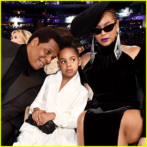 Beyonce & Blue Ivy Join Jay-Z in Front Row at Grammys 2018