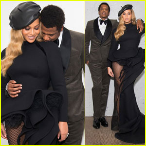 Beyonce & Jay Z Couple Up at Clive Davis Pre-Grammys Party!