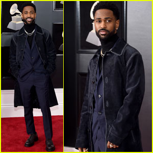 Big Sean Hits the Grammy Awards 2018 Red Carpet!