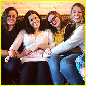'Sisterhood' Cast Reunites to Celebrate America Ferrera's Pregnancy & Time's Up Movement!