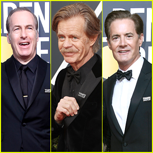 Nominees Bob Odenkirk, William H. Macy & Kyle MacLachlan Show Their Support With Time's Up Pins at Golden Globes 2018!