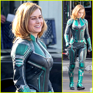 Brie Larson Gets Into Her Superhero Costume as 'Captain Marvel' - See the First Pics From the Set!