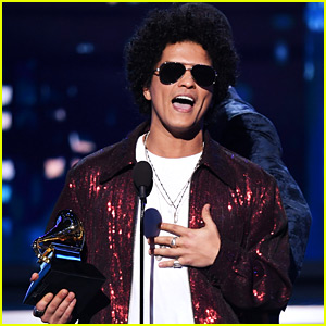 Bruno Mars Wins Record of the Year at Grammys 2018, Says 'Too Many Ballads Tonight'