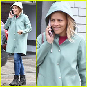 Busy Philipps Braves the Rainy Weather in WeHo