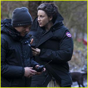 Caitriona Balfe Bundles Up on the Set of 'Outlander'