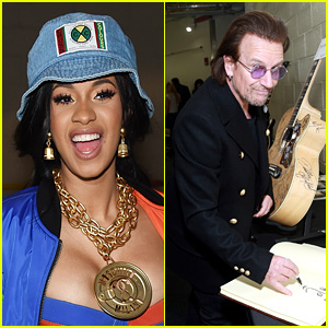 Cardi B Freaks Out After Receiving a Note From Bono - Watch Now!