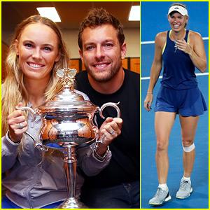 Caroline Wozniacki Celebrates First-Ever Grand Slam Win with Fiance David Lee!