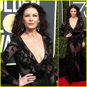 Catherine Zeta-Jones Stuns on the Red Carpet at Golden Globes 2018!