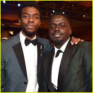 Black Panther's Chadwick Boseman & Daniel Kaluuya Meet Up at NAACP Image Awards 2018!