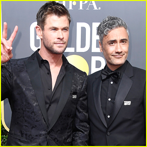 Chris Hemsworth & 'Thor' Director Taika Waititi Arrive at Golden Globes 2018