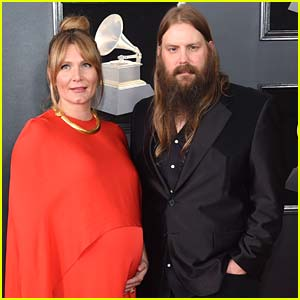 Chris Stapleton & Pregnant Wife Morgane Couple Up for Grammys 2018!