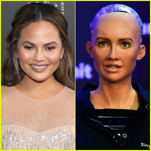 Chrissy Teigen Got Called Out By a Robot For Throwing Shade!