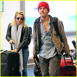 Riverdale's Cole Sprouse & Lili Reinhart Stop For Fans While Arriving Back in Vancouver Together