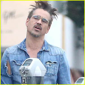 Colin Farrell Looks Totally Bummed After Getting a Parking Ticket!
