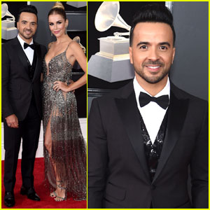 Luis Fonsi Couples Up With Wife Agueda Lopez at Grammys 2018