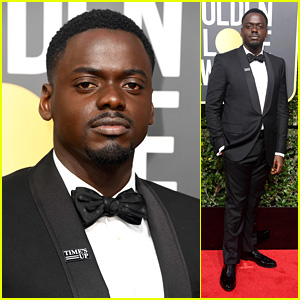 Daniel Kaluuya Wears Time's Up Pin on the Red Carpet at Golden Globes 2018