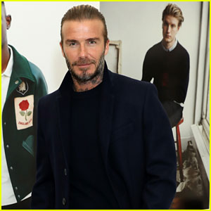 David Beckham Looks Sharp at London Fashion Week Event