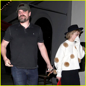 David Harbour & Girlfriend Alison Sudol Couple Up for Dinner at Craig's