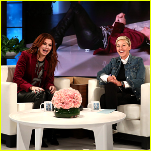Ellen DeGeneres Scares Debra Messing While Playing 'Speak Out' - Watch Now!