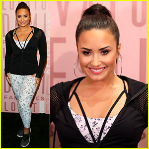 Demi Lovato Models Her Fabletics Line for Fans at Del Amo Mall