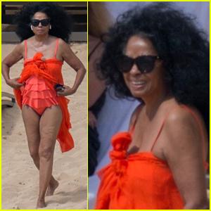 Diana Ross Rocks One-Piece Bathing Suit in Hawaii!