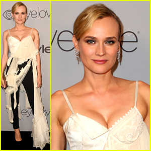 Diane Kruger Changes Into Black & White Look for InStyle's Golden Globes After Party 2018