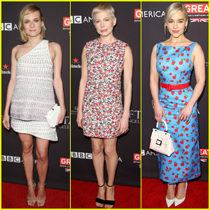 Diane Kruger, Michelle Williams, & Emilia Clarke Go Glam for BAFTA Tea Party