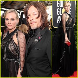Diane Kruger & Boyfriend Norman Reedus Make Couple Debut at Golden Globes 2018!