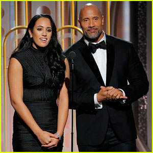 Dwayne Johnson & Daughter Simone Take the Stage at Golden Globes 2018