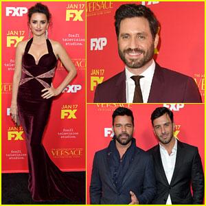 Edgar Ramirez & Penelope Cruz Join Ricky Martin & Fiance Jwan Yosef at 'Assassination of Gianni Versace' Premiere