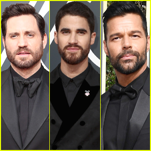 Edgar Ramirez, Darren Criss, & Ricky Martin Support Times Up at Golden Globes 2018