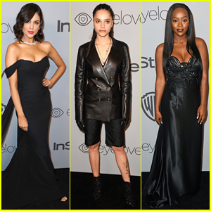 Eiza Gonzalez, Sasha Lane & Aja Naomi King Represent Time's Up at InStyle's Golden Globes After Party 2018!