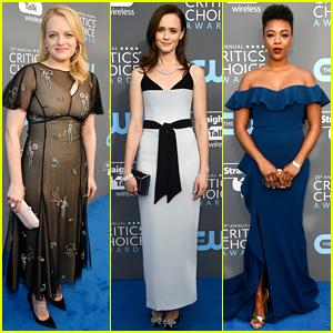 Elisabeth Moss & 'Handmaid's Tale' Cast Step Out at Critics' Choice Awards 2018!