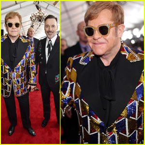 Elton John Steps Out at Grammys 2018 After Announcing Touring Retirement