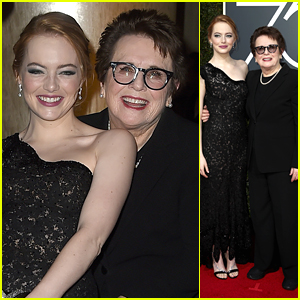 Emma Stone & Billie Jean King Take a Stand Together on the Red Carpet at Golden Globes 2018!