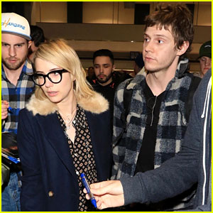 Emma Roberts & Evan Peters Touch Down in Salt Lake City Ahead of Sundance