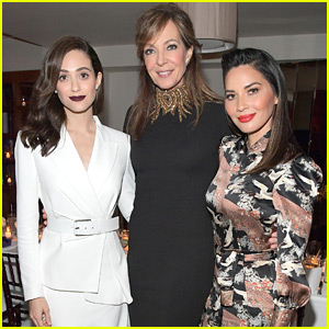 Emmy Rossum & Olivia Munn Join Allison Janney at Opening of Stuart Weitzman's Boutique