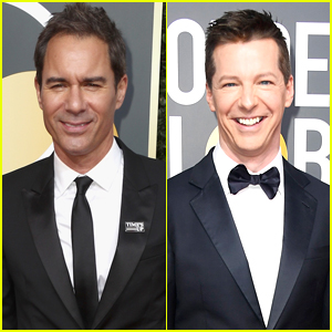 Eric McCormack Joins Co-Star Sean Hayes at Golden Globes 2018
