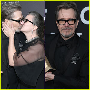 Gary Oldman & Wife Gisele Share a Kiss at Focus Feature After Golden Globes 2018 Party!
