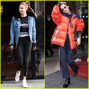 Gigi & Bella Hadid Show Off Their Fierce Street Styles