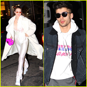 Gigi Hadid & Zayn Malik Look Fashionable While Out on the Town!