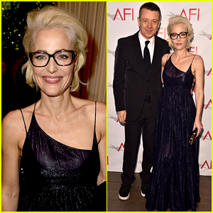 Gillian Anderson Supports Boyfriend Peter Morgan at AFI Awards 2018!