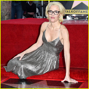 Gillian Anderson Receives a Star on Hollywood Walk of Fame!