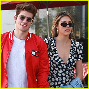 Gregg Sulkin Hangs Out with Sistine Stallone in Beverly Hills