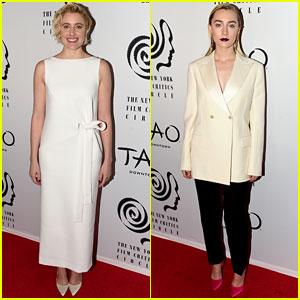 Lady Bird's Greta Gerwig & Saoirse Ronan Team Up for New York Film Critics Awards 2017