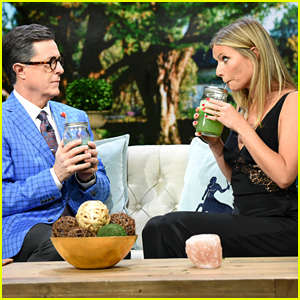 Stephen Colbert & Gwyneth Paltrow Combine Their Lifestyle Brands - Watch Now!