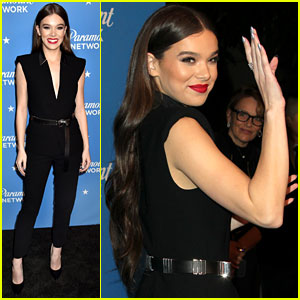 Hailee Steinfeld is a Beauty in Black at Paramount Network Launch Party