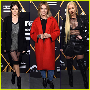 Hailee Steinfeld, Julia Michaels, & Iggy Azalea Party with Republic Records Ahead of the Grammys