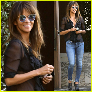 Halle Berry Goes Sexy in Sheer for Lunch in WeHo